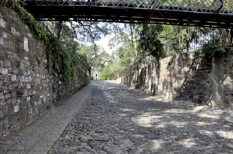 The cobbled ramps to River Street are part of a long and varied history of pavement in Savannah.