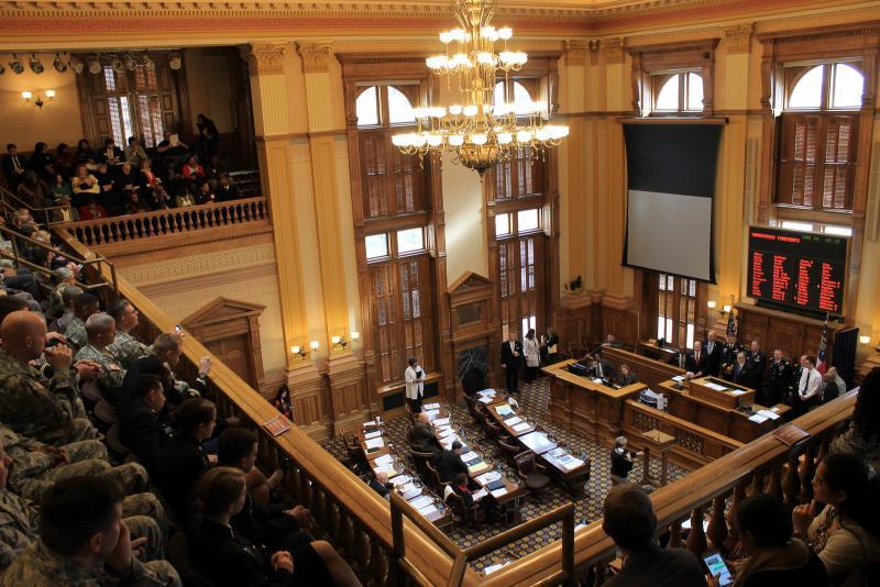 Guardsmen visit the Georgia Senate