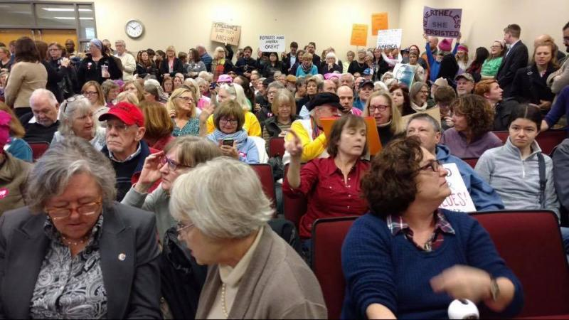 Hundreds of people filled government offices in Greensboro to try and air grievances to members of the staffs of Senator David Perdue, Senator Johnny Isakson and Representative Jody Hice.