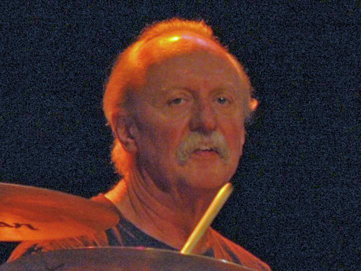 Butch Trucks of the Allman Brothers Band guesting at the Soul Stew Revival, Mizner Park, Florida, December 28, 2007.