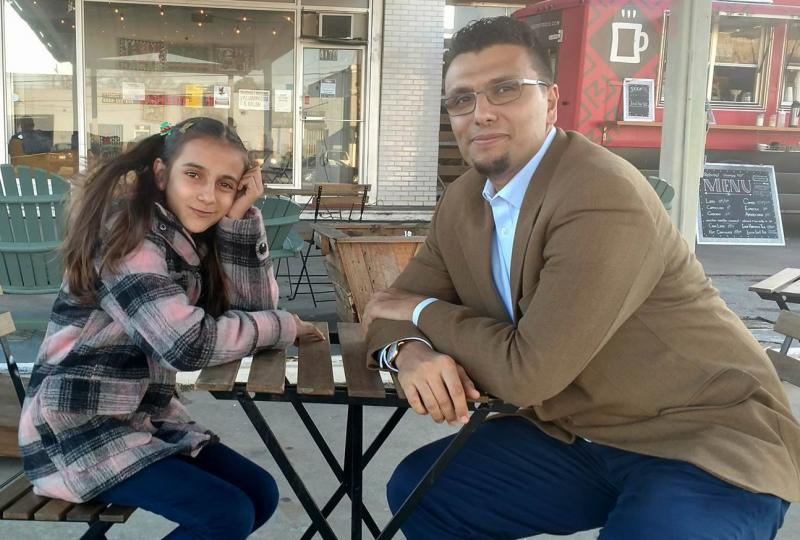 Nawroz Youssef, 12, and Heval Kelli, 34, are both from Syria and came to the U.S. as refugees. They now call Georgia home. Here they are in Clarkston, Georgia.