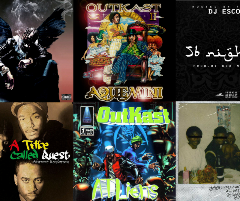 "A sampling of albums discussed in Dr. Joyce Wilson's class ""Exploring the Lyrics of OutKast and Trap Music to Explore Politics of Social Justice"""