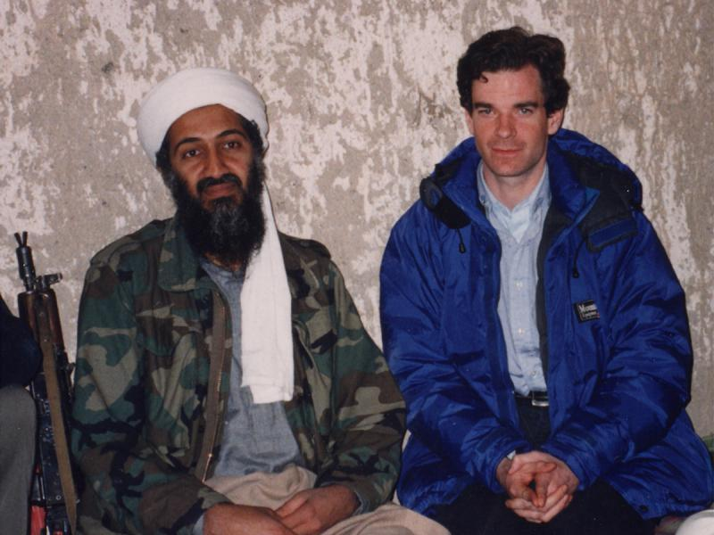 Osama Bin Laden and Peter Bergen