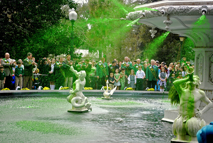 With the Forsyth Park fountain running green, Savannah is all ready for St. Patrick's Day weekend.