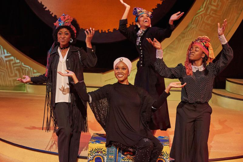 (l to r) Tina Fears, Marliss Amiea, Chani Maisonet and Chelsea Reynolds in the Theatrical Outfit's production of Simply Simone.