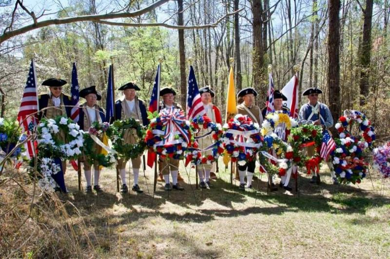 An anniversary celebration at Brier Creek, a battlle site where the Georgian Continental Army lost to the British during the American Revolution.