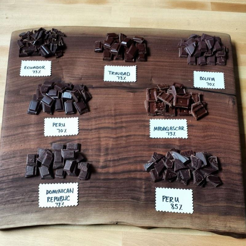 Different types of chocolate offered at Xocolatl.