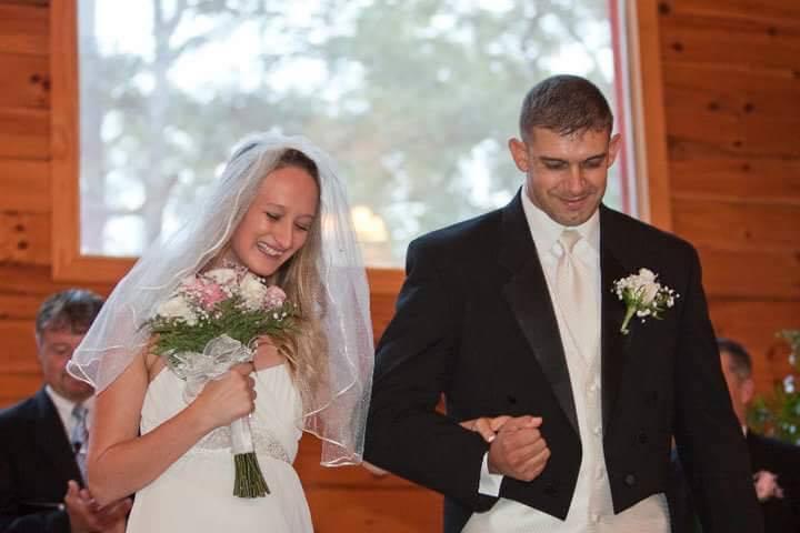 Crystal and Donovan Hernandez of Columbus, Georgia on their wedding day in 2010. Donovan, an Army veteran, killed himself in 2014.