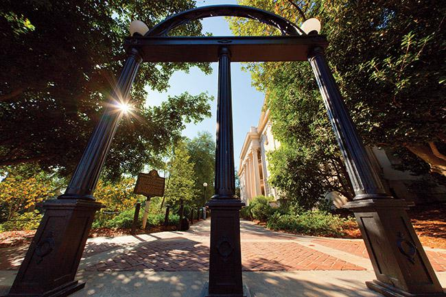 The arches on campus at the University of Georgia