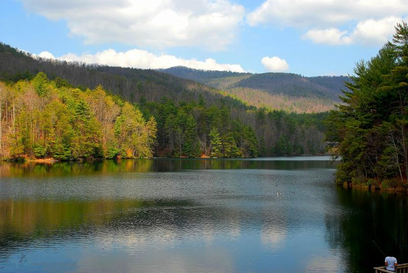 Lake at Helen in North Georgia