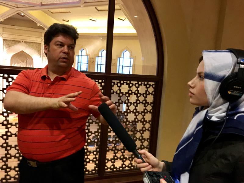 At Al-Farooq Masjid of Atlanta, On Second Thought intern Olivia Reingold talks with Jeff Sadiq, a board member at  Al-Farooq Masjid in Atlanta.