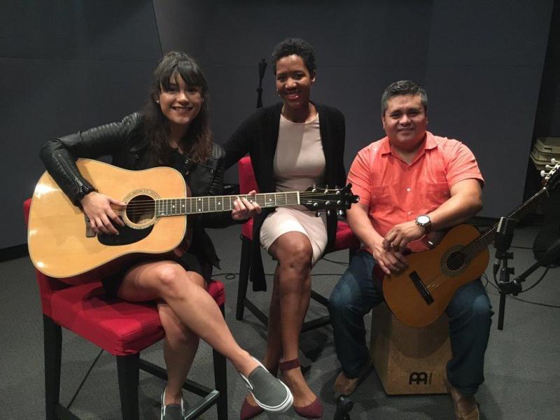 (l to r) Felicita, Leah Fleming, Antonio Rodriguez