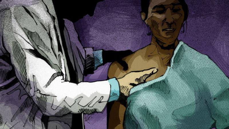 An illustration to go with Doctors & Sex Abuse series by the Atlanta Journal-Constitution.