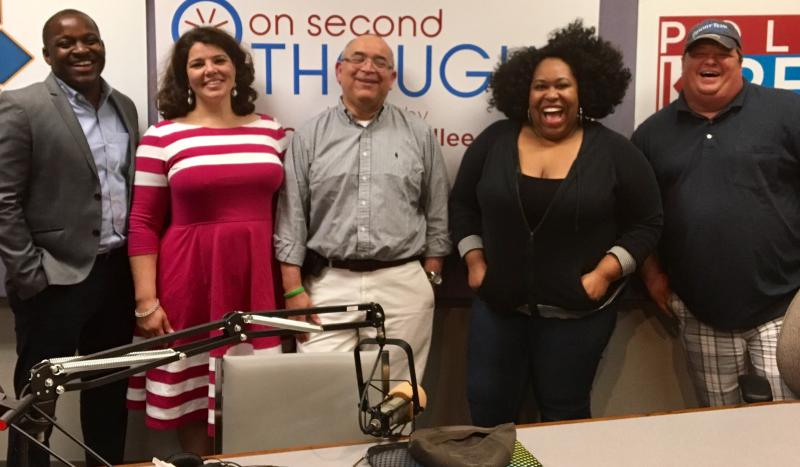 The Breakroom panel (l to r): Howard Franklin, host Celeste Headlee, Hector Fernandez, and Kalena Boller.