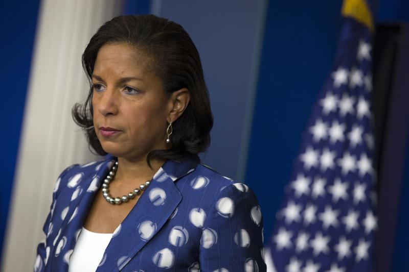 In this July 22, 2015 file photo, National Security Adviser Susan Rice participates in a briefing at the White House in Washington.