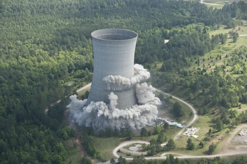 K Cooling Tower is imploded on May 26, 2010 as part of the SRS Recovery Act Project.