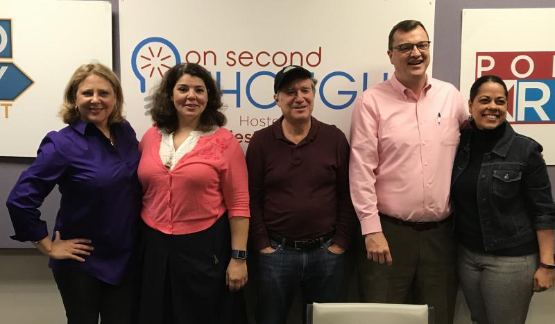The Breakroom panel (l to r): Natalie Pawelski, host Celeste Headlee, Eric Segall, Steve Brown, and Roxanne Donovan