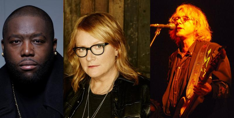 Rapper Killer Mike, Emily Saliers of Indigo Girls, and Mike Mills of REM