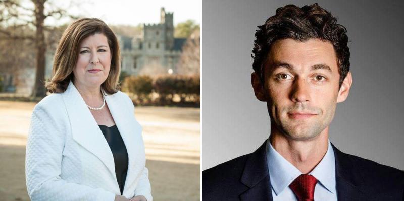 Karen Handel and Jon Ossoff
