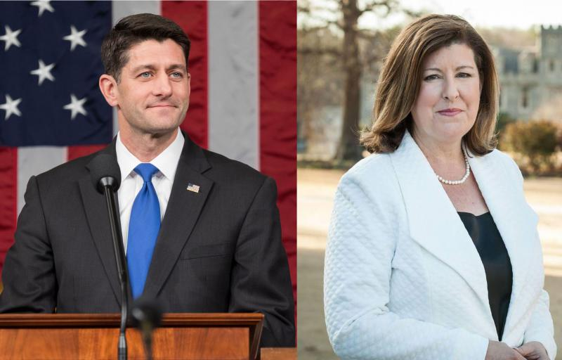 U.S. House Speaker Paul Ryan attended a Karen Handel campaign event Monday, May 15, 2017.