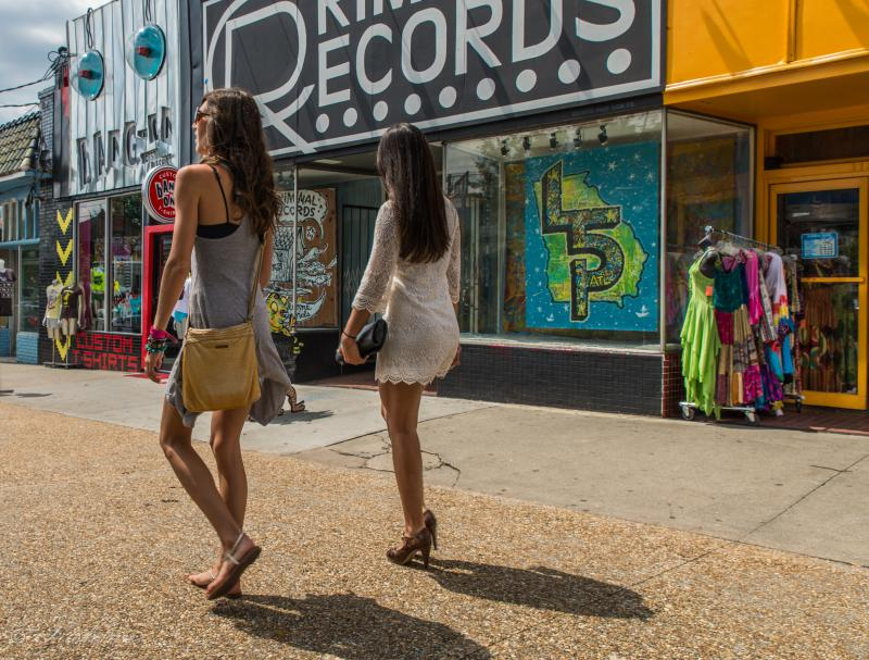 Little Five Points in Atlanta is home to a number of retail stores.