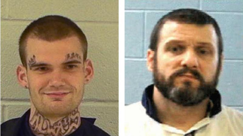 Authorities have captured escaped Georgia inmates Ricky Dubose (left) and Donnie Russell Rowe.