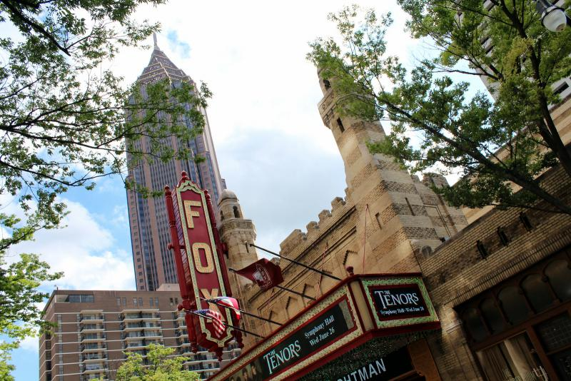 Atlanta - Midtown: Bank of America Plaza and Fox Theatre
