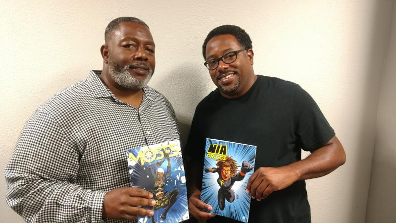 Darrick and Carlton Hargro are the publishers  of 20th Place Media, a Atlanta-based comic book company that's working to develop more heroes of color.