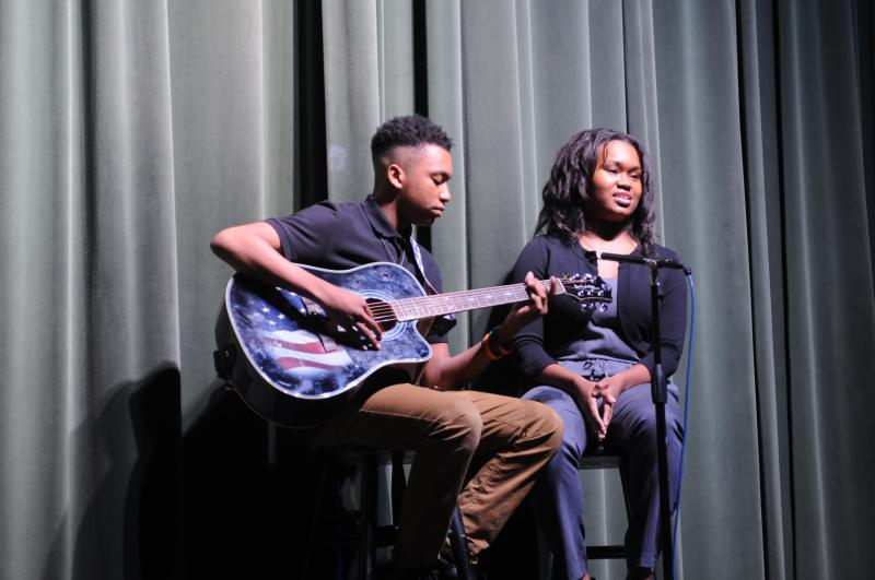 Artis and Aris Johnston singing in GPB's Teenage Talent Show.
