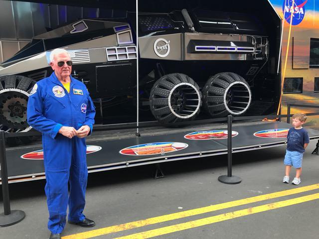 Astronaut Jon McBride accompanied the Mars Rover to Atlanta, July 13-16.