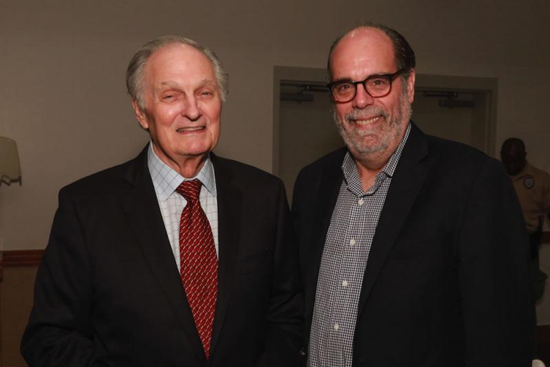 Alan Alda (left) and Bill Nigut