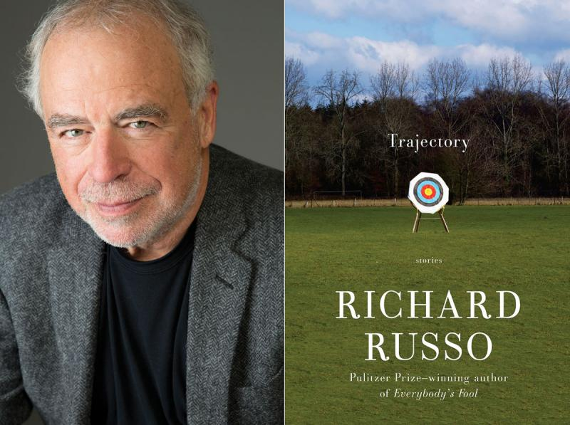 "Richard Russo and his new book ""Trajectory: Stories."""