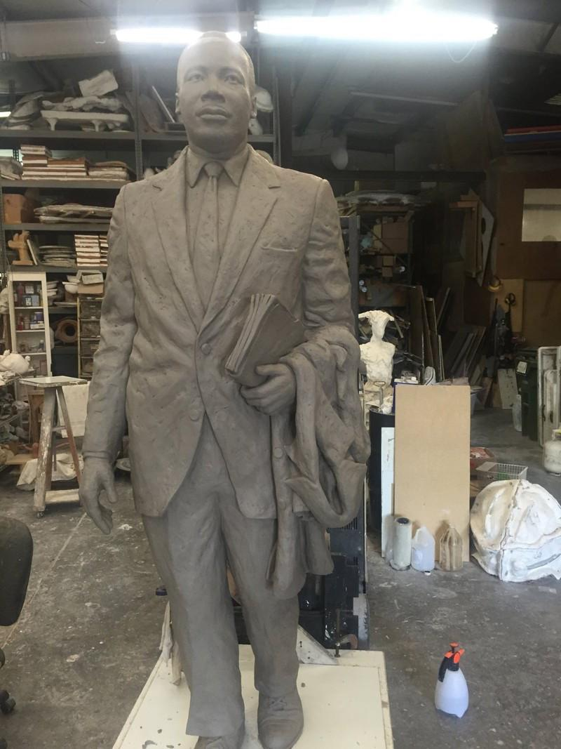 A clay modeling of the Martin Luther King Jr. statue to be placed at the Georgia State Capitol on August 28, 2017.