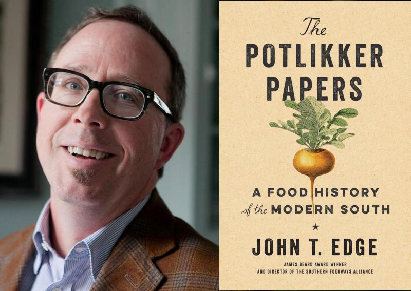 "Author John T. Edge and his new book on Southern food and culture, ""The Potlikker Papers."""