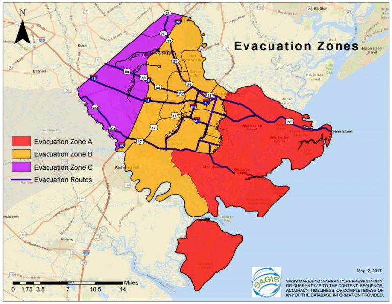 "At a press conference Saturday afternoon, Sept. 9, CEMA Director Dennis Jones said, ""All of Chatham County remains in an evacuation order. Zone A is mandatory; zones B and C are in a general evacuation order."""