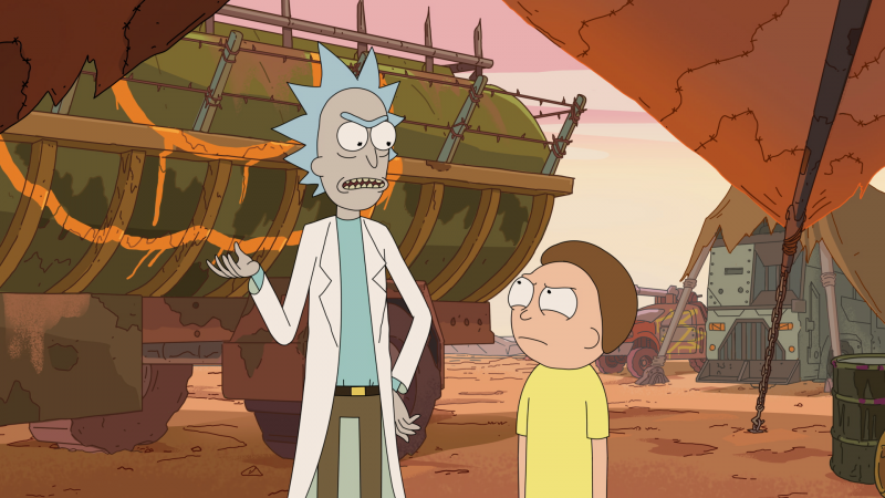 Rick Sanchez and Morty debate over the right decision.