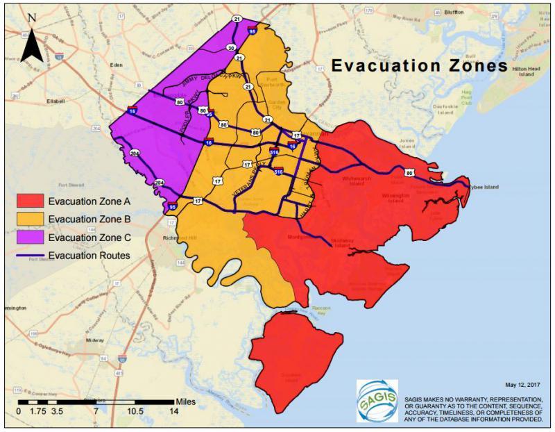 Chatham County created new evacuation zones following Hurricane Matthew.
