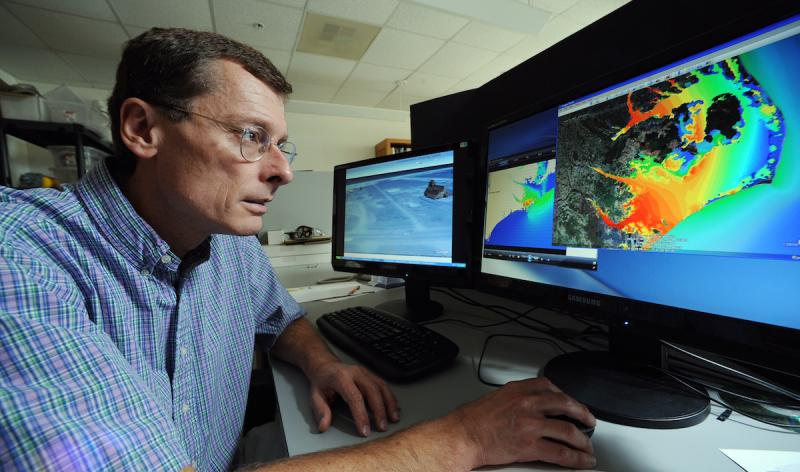 Dr. Rick Leuttich, director of Marine Sciences at the University of North Carolina Chapel Hill, is an expert in storm surge.