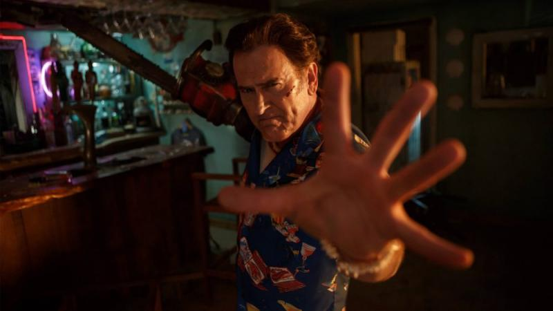 "Btruce Campbell as Ash Williams in the Starz series ""Ash vs. Evil Dead."""