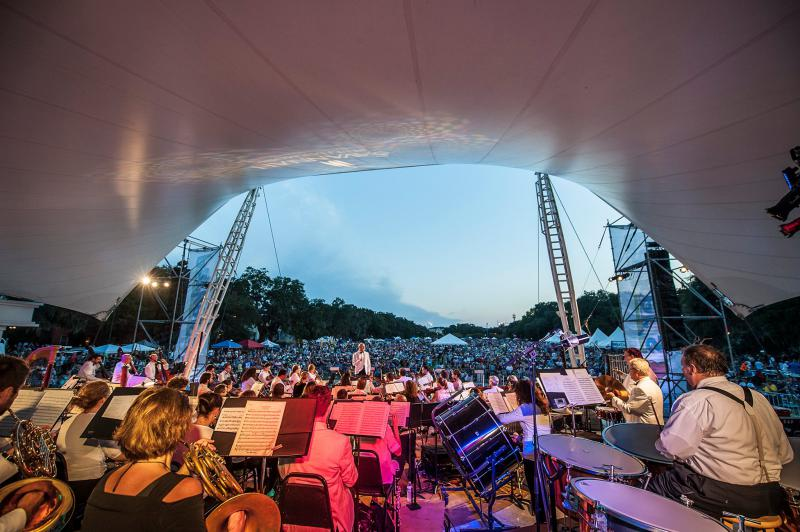 The Savannah Philharmonic and other local groups will perform on the Forsyth Park stage at Picnic in the Park on Sunday