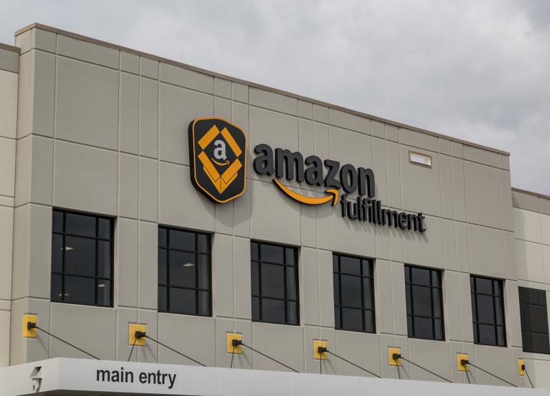 On Tuesday, Amazon annnounced it will open a new  fulfillment center in Macon. Pictured, a fulfillment center in Shakopee, Minnesota.