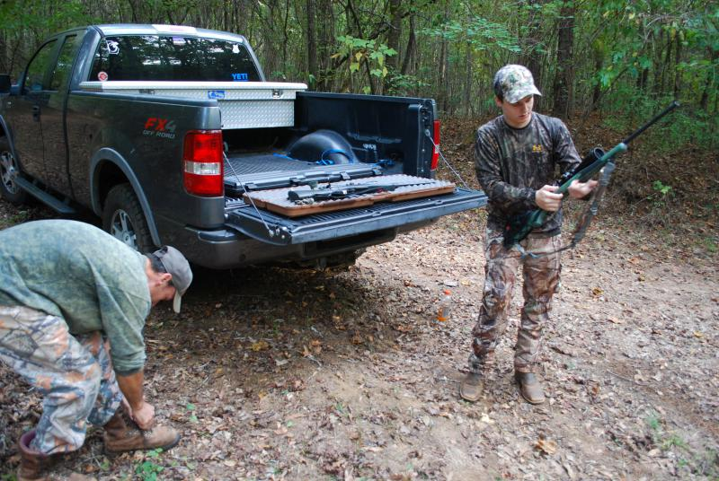 Van and Evan Mixon get ready to hunt.