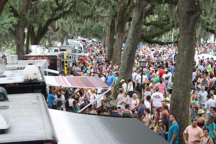 Chow down at the latest Savannah Food Truck Festival on Sunday in Daffin Park.