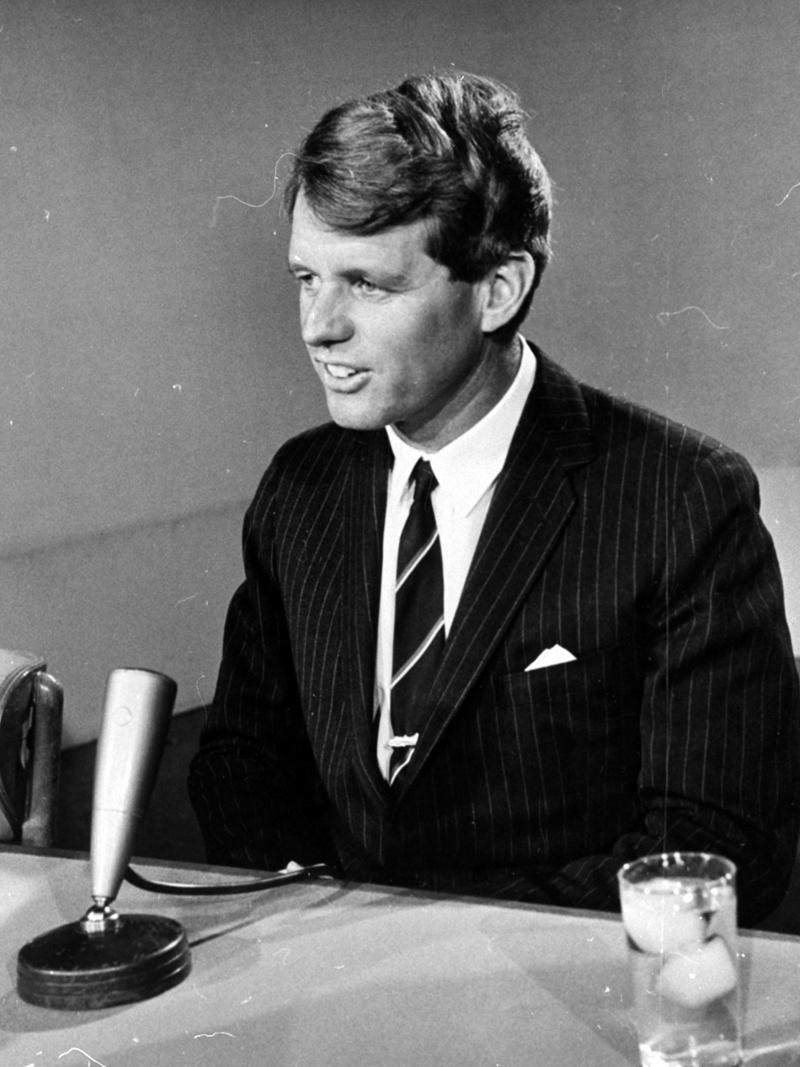 Senator Robert F. Kennedy, D-NY, is shown in this undated photo, testifying at a Senate hearing in Washington, D.C.