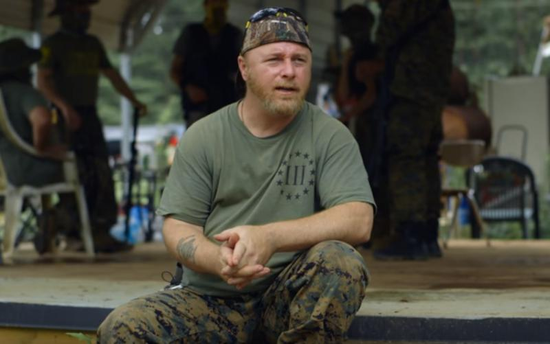 "Chris Hill is the leader of the Georgia III% Security Force. He says his group is not anti-government, but rather ""anti-tyrannical government."""
