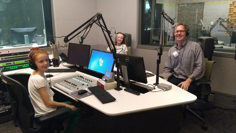 Nora, Lila and Paul Sherman during the interview.