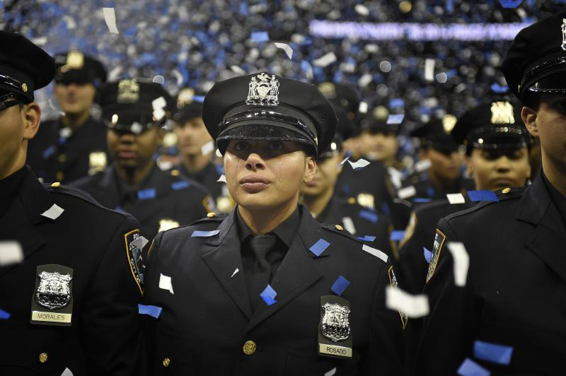 A graduation ceremony at the NYPD Police Academy on Monday, June 30, 2014.