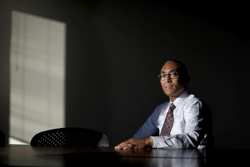 Burrell Ellis is photographed in the office of the American Civil Liberties Union of Georgia in Atlanta, Monday, Dec. 4, 2017.