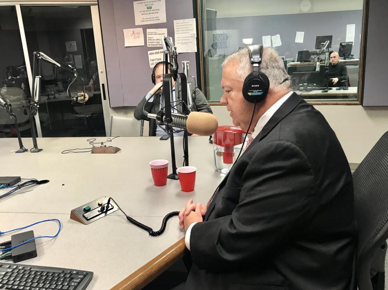 Georgia House Speaker David Ralston is interviewed by Political Rewind hosts Bill Nigut and Greg Bluestein on December 13, 2017.