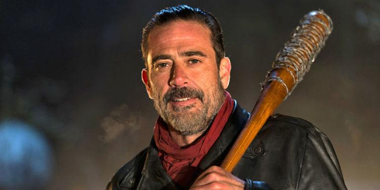 "Jeffrey Dean Morgan as Negan on ""The Walking Dead."" Negan's weapon of choice is a bat named Lucille."